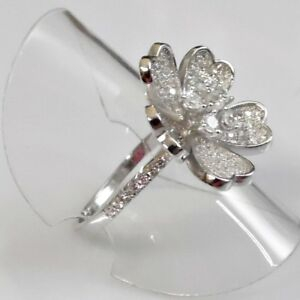Saphir-Cocktail-Designer-Ring-Bluete-Blume-925er-Sterlingsilber-58-18-4-mm