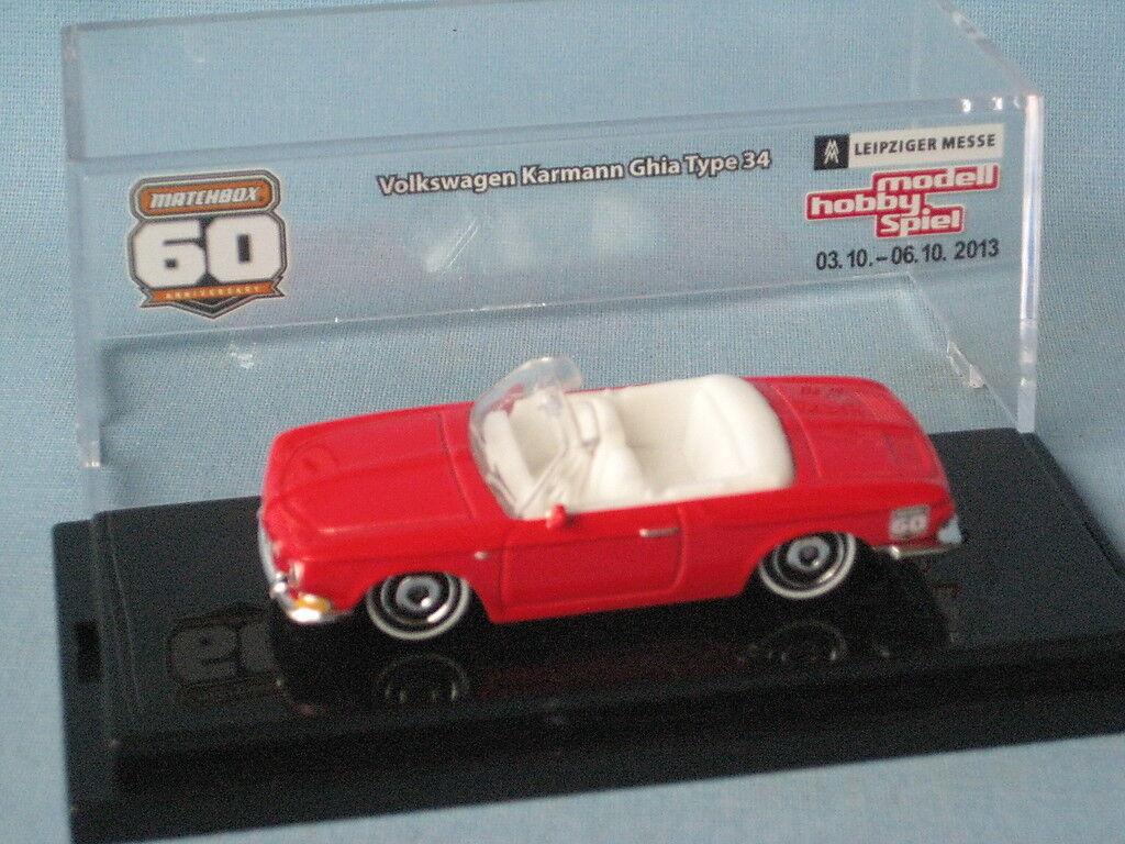 Matchbox VW Volkswagon 1961 Type 34 Karmann Ghia Red Body Leipzig 2013 Promo