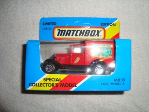 LOOK-!!! MATCHBOX MB-38 FORD MODEL A VAN MANX CATTERY-ISLE OF MAN LOW PRICE