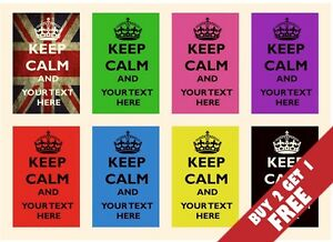 PERSONALISED-KEEP-CALM-POSTERS-30cm-X-21cm-Modern-Inspirational-Present-Idea