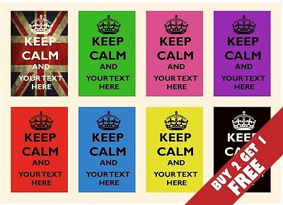 PERSONALISED KEEP CALM POSTERS 30cm X 21cm Modern Inspirational Present Idea