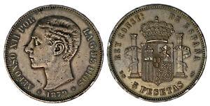 5-SILVER-PESETAS-PLATA-DURO-MADRID-ALFONSO-XII-1879-XF-EBC-ATRACTIVA