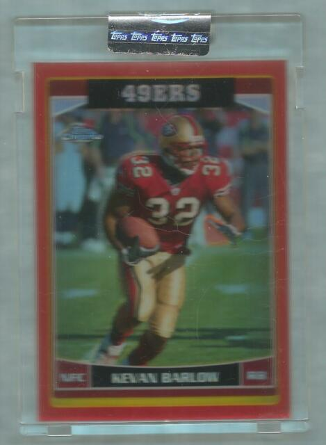 2006 Topps Chrome Football Kevan Barlow Uncirculated Red Refractor 177/259