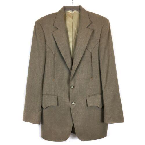 H Bar C Ranchwear Beige Blazer Suit Jacket 2-Butto