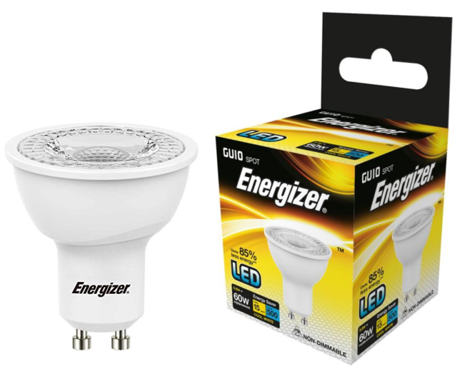 Energizer 5.8w (=60w) LED GU10 Spotlight Bulb – 36° beam, Cool White (4000k)