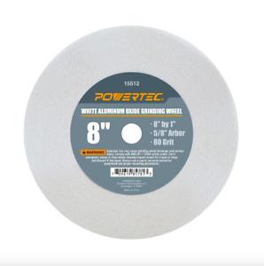 Powertec 8 Inch 80 Grit 5 8 In Arbor Aluminum Oxide Bench