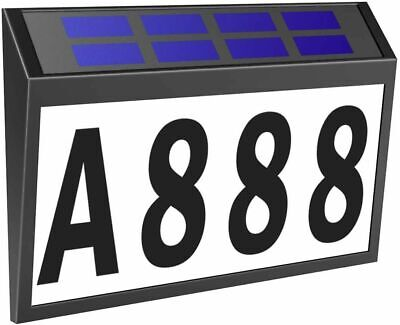 Solar Led Address Light Sign Routed Back Lighted Sign House Numbers Plaque Set Ebay