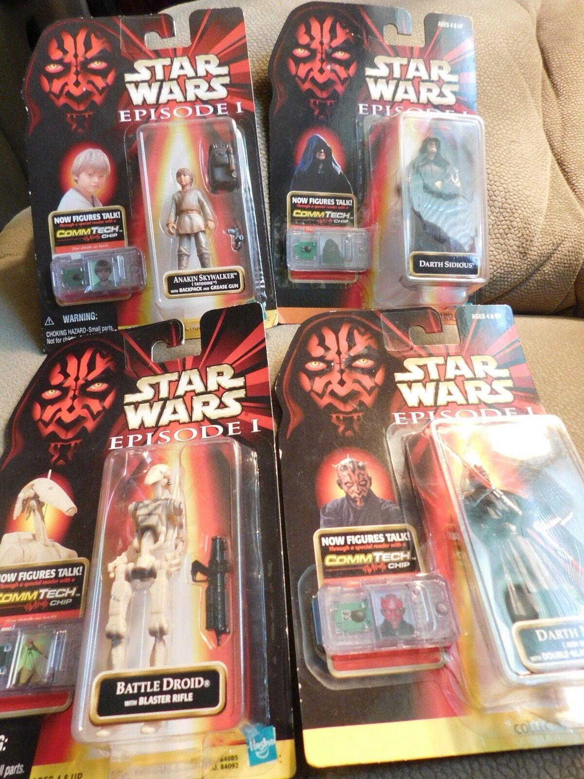 Star Wars Episode I 1998 Hasbro Lot of 4 Action FiguresBrand NewFree Shipping