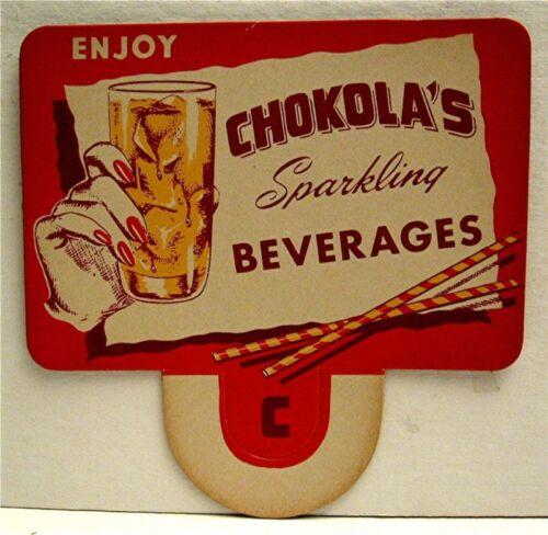 Old Chokola Soda Pop Bottle Topper Sign Wilkes Barre Pa