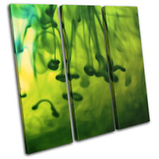 Girl Design Female Green Gift Abstract TREBLE CANVAS WALL ART Picture Print