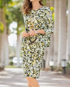 Plus-Size-Together-Camouflage-Army-Green-Khaki-Cream-Double-Layer-Dress-Size-26