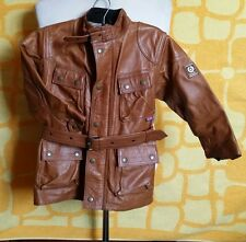 Belstaff panther jacket junior bambini in pelle marrone testa di moro Brown 5y