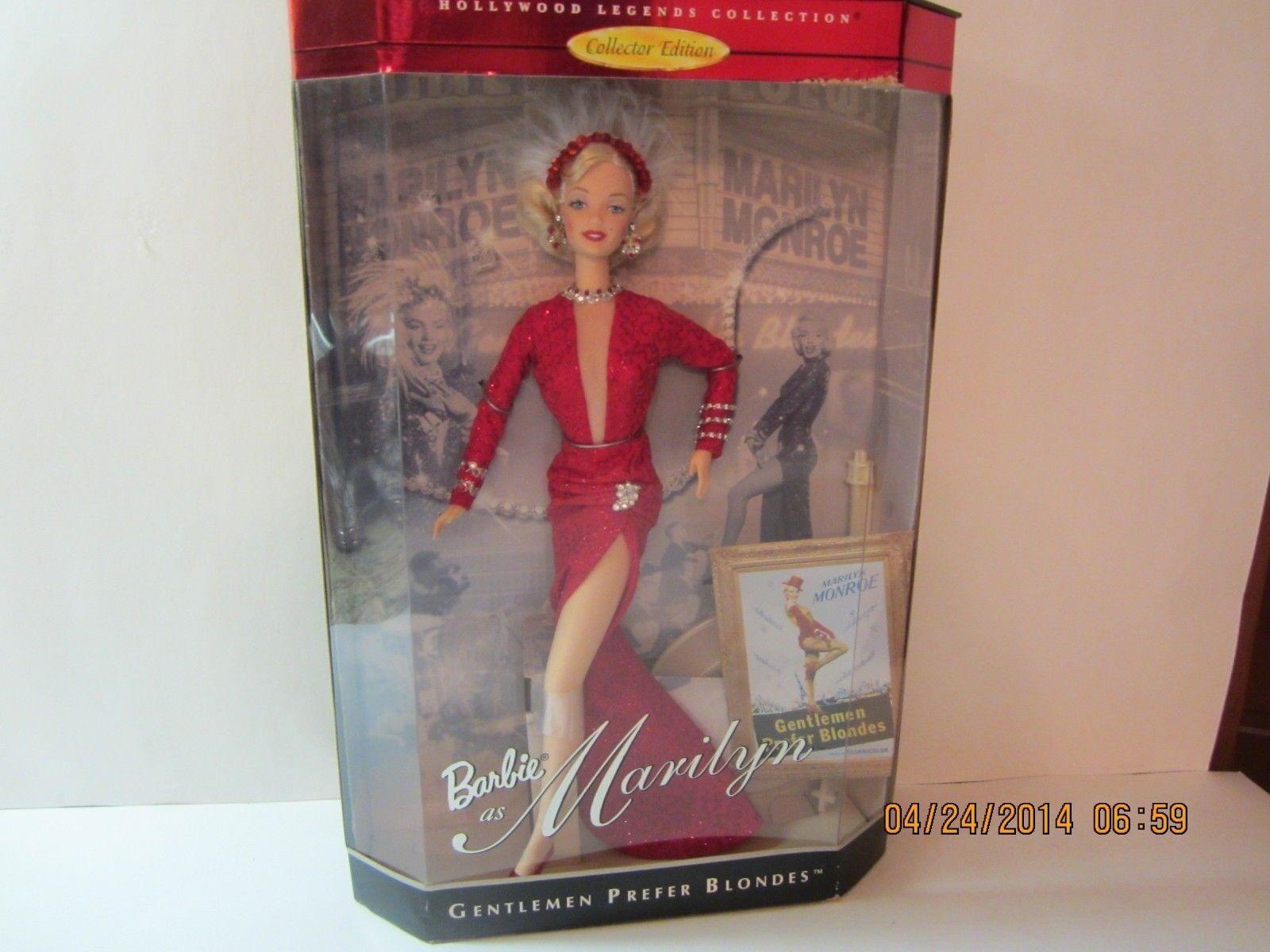 Marilyn Monroe 1997 Barbie  Gentlemen Prefer Blondes  NRFB  17452 Hollywood