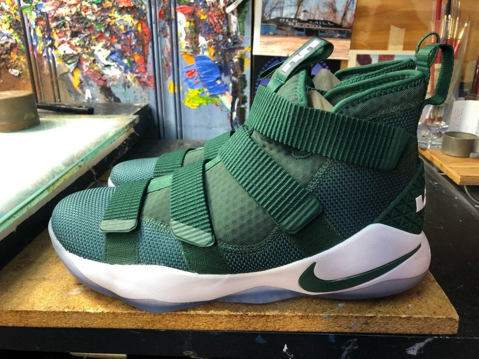 Nike LeBron Soldier XI TB Promo Fir Green White Size US 13 Men 943155 302 New