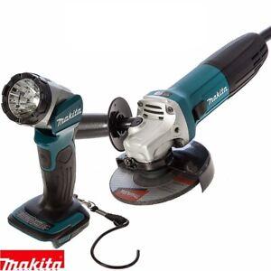 Amoladora-Angular-Makita-GA5030R-125mm-Slim-720W-240V-con-DML802-Antorcha