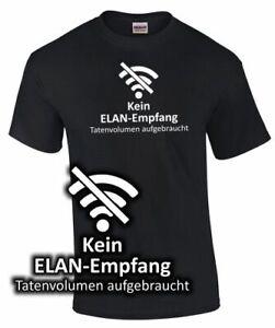 T-Shirt-Spruch-lustig-Arbeit-Beruf-Schule-KEIN-ELAN-EMPFANG-Fun-witzig-Geschenk
