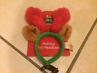Dan Dee Reindeer Pet Headband For Puppy Dog Holiday Dress Up