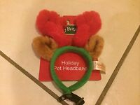 Dan Dee Reindeer Pet Headband For Puppy Dog Holiday Dress Up