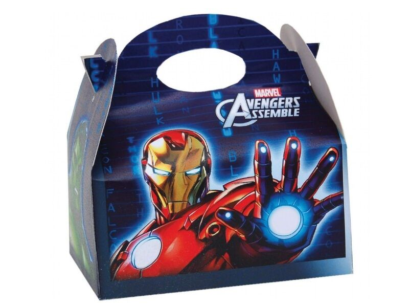 45 Marvel Avengers Gift Boxes Boxes Boxes  Popcorn Food Meal Box  Birthday Party Fillers 3d0a8e