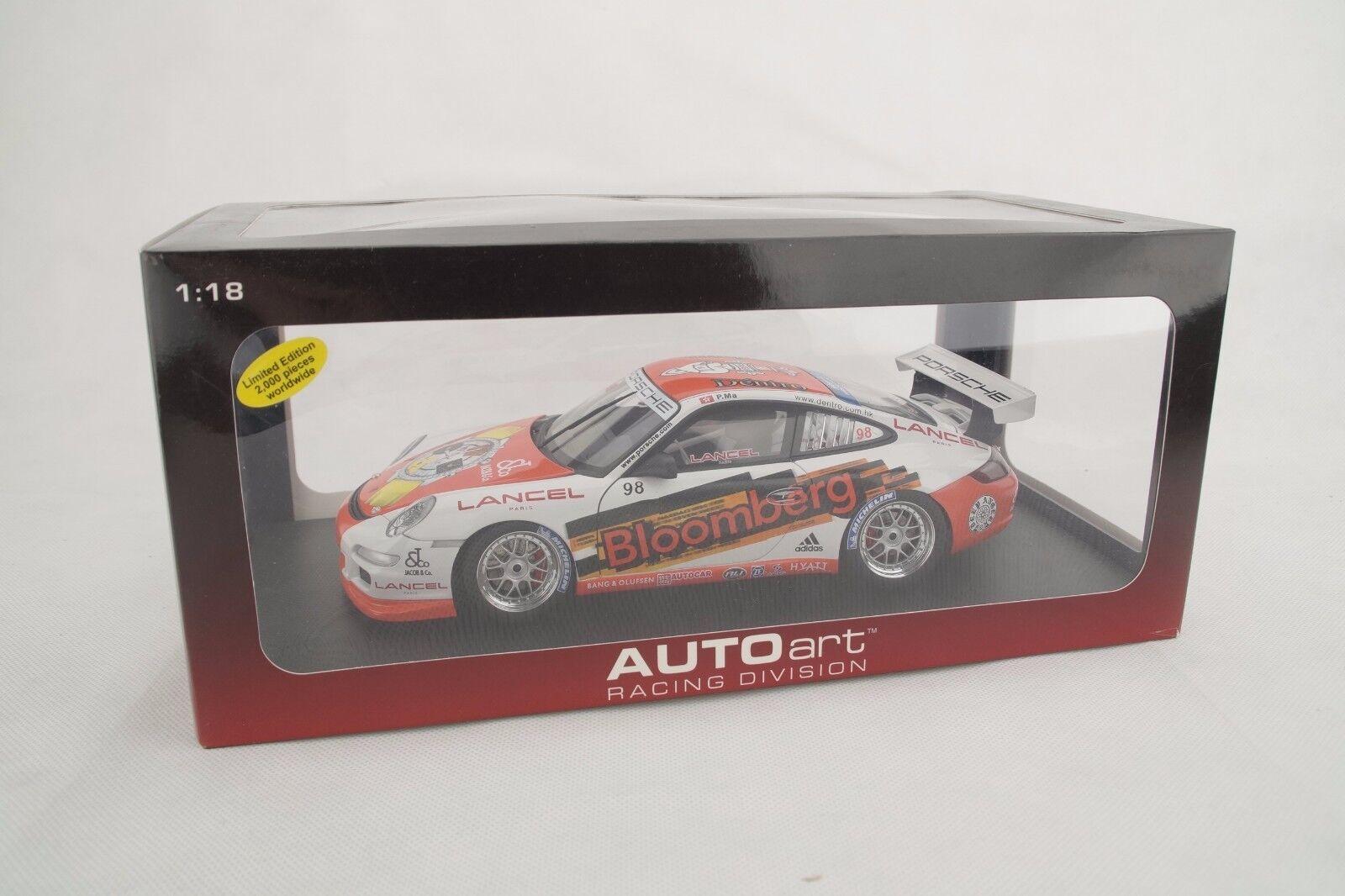 Autoart Porsche 911 (997) GT3 Cup 2018 P. Ma 98 - Bloomberg - Nuevo / Caja