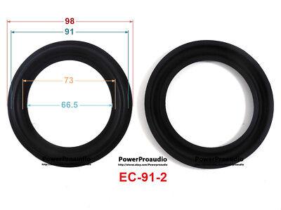 "2 pieces Brand new10 inch speaker foam surround speaker repair parts 10/"" BLACK"