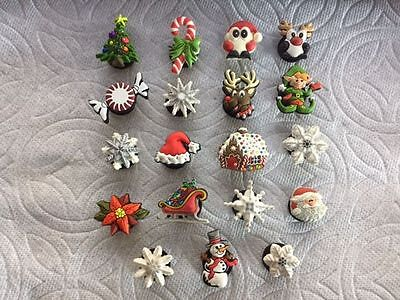 Cute Christmas Winter  Word SNOW /& SNOWFLAKE Set Croc Accessories Shoe Charms