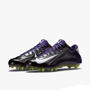 63d59330c9f4 Nike Vapor Carbon 2.0 Elite TD Football Cleats Black Purple 657441 ...