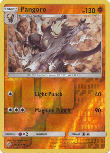 x4 Pangoro Uncommon 120//236 Reverse Holo Pokemon SM12 Cosmic Eclipse M//NM
