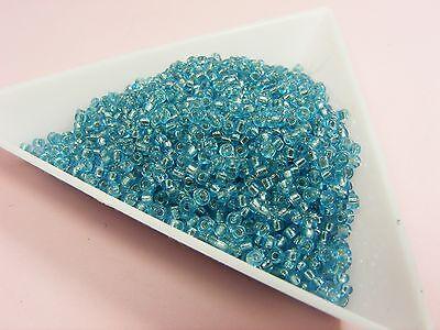 15gm.(1800pcs+) FOIL Lined / Iridescint / Transparent GLASS Seed BEADS 15/0