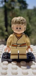 Lego Star Wars Dark Tan Tousled Short Male Hair Anakin NEW