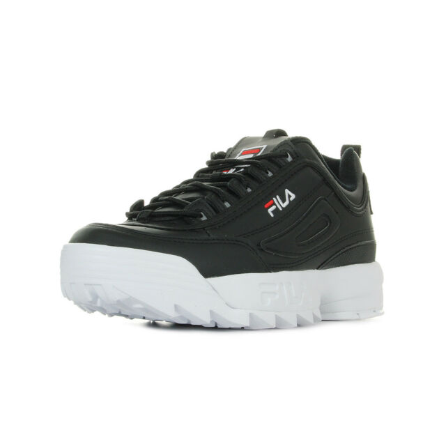 Chaussures Cuir Noir Noire Low Fila Baskets Taille Disruptor Homme vw8xFrvn6z