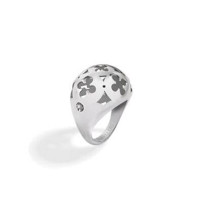 Anello Donna MORELLATO DUCALE Acciaio Diamante Naturale 3 Misure 12 14 16