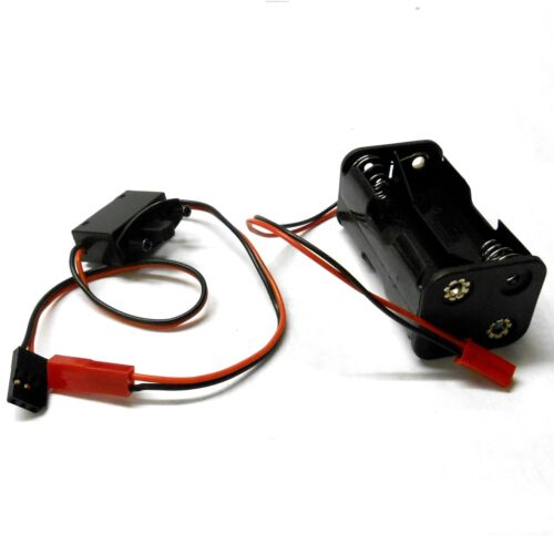 C1202-7C6005B RC Battery Holder Box Pack 4 AA Compatibe JST 2 Pin Futaba Switch