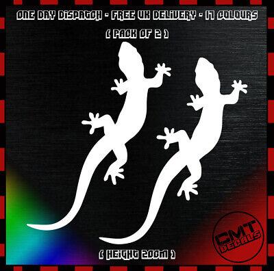 Car Decal Gecko Pair Bumper Sticker Lizard DUB euro Reptile Bettle 17 Colours