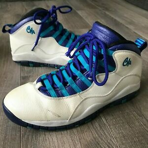 promo code 587f6 c5fb2 Image is loading Air-Jordan-10-Retro-034-Charlotte-034-White-