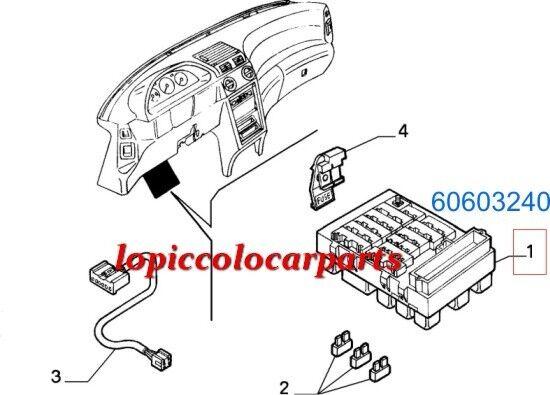 60603240 Centralina Derivazione (Portarelè) Alfa Originale 145/146 Originale Alfa d588ad