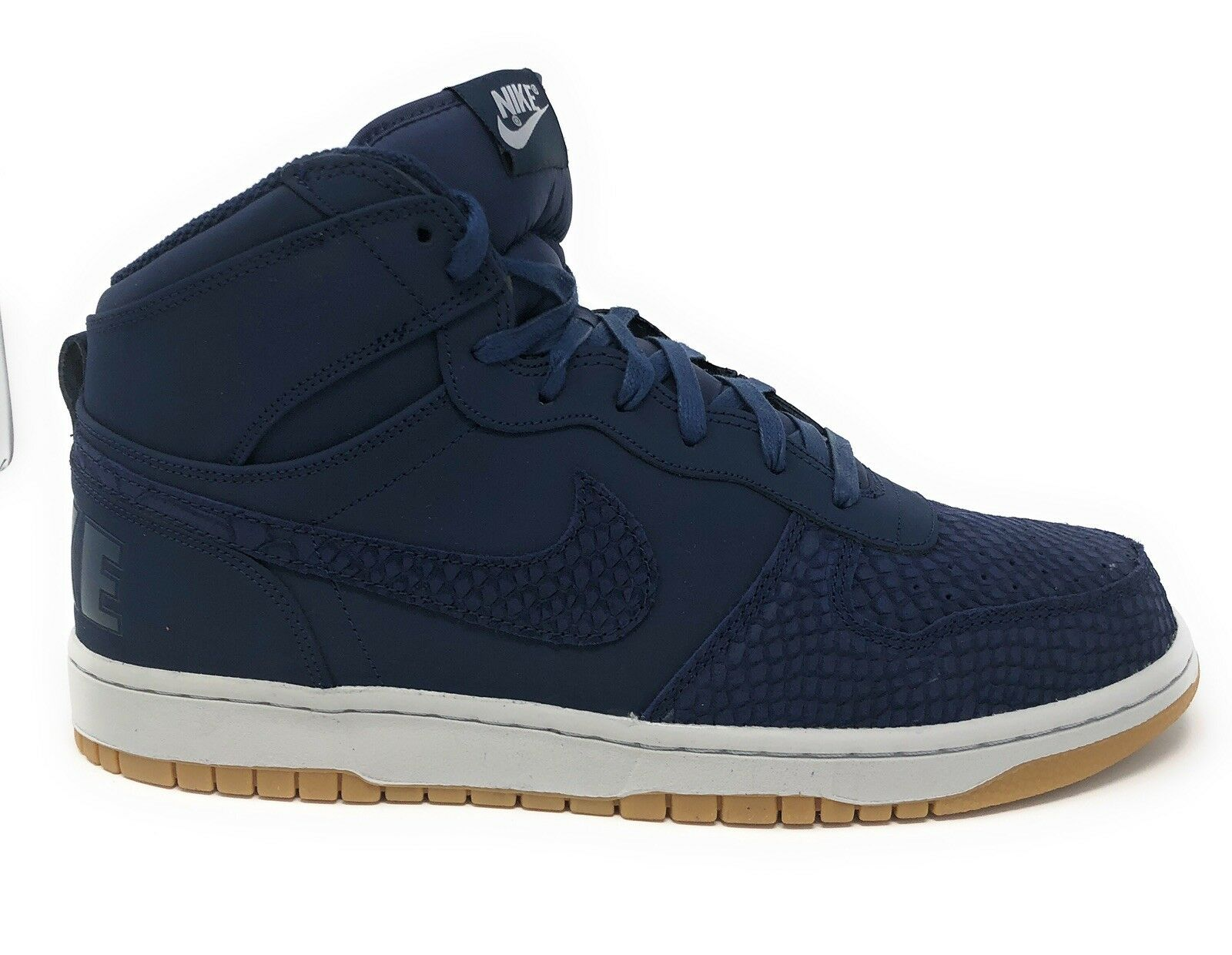 MEN'S NIKE BIG NIKE HIGH LUX SHOES midnight navy 854165 400 SIZE 12. (E1)