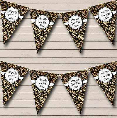 Retro Pattern Personalised Birthday Party Bunting Banner Garland