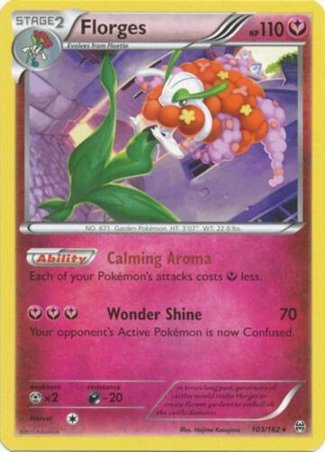 Florges Rare Pokemon XY BreakThrough Card # 103 XY08-103 4x