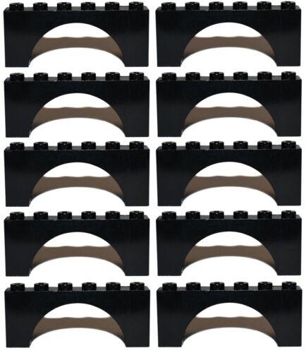 LEGO ARCH 2x6 x10 pieces # BLACK # bridge window wall castle *