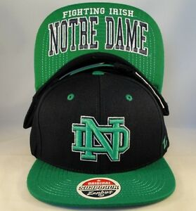 outlet store 62e3c 78a12 Image is loading NCAA-Notre-Dame-Fighting-Irish-Snapback-Hat-Cap-