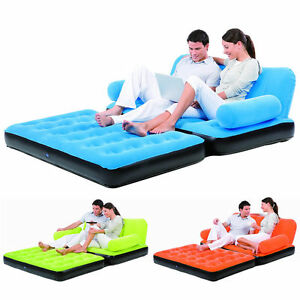 blow up furniture. DOUBLE-SOFA-AIR-BED-INFLATABLE-BLOW-UP-COUCH- Blow Up Furniture