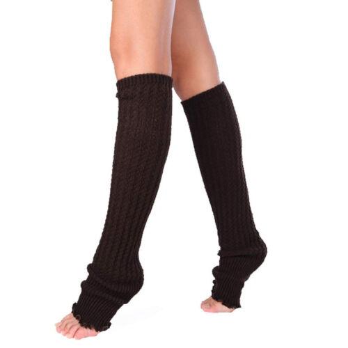 High Socks For Women Stocking Cover Shoes Boot Heel 80S Leg Knitted Legging