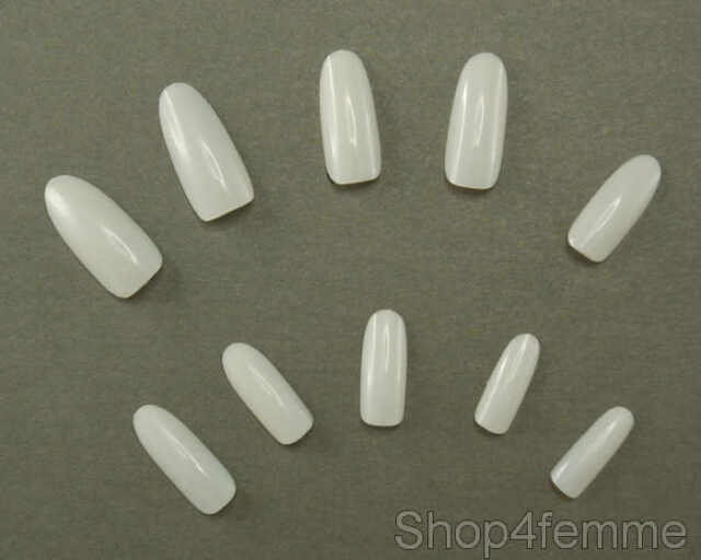 Selections of 500pcs Oval / Round Stiletto Style Whole Nail Tips (Full Nails)