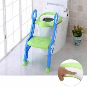 Toilettentrainer Kinder WC Toilettensitz Lerntoepfchen Treppe Verstellbar Leiter