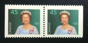 Canada-1360ixs-CP-MNH-Queen-Elizabeth-II-Booklet-Pair-of-Stamps-1995