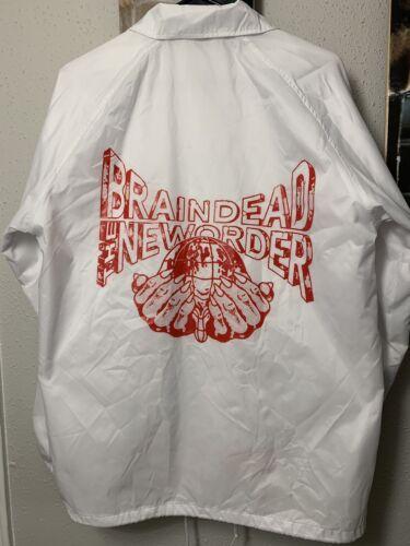 """Brain Dead """"New Order"""" Coaches Jacket Windbreaker"""