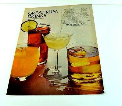 Great Rum Drinks Four Simple Recipes Puerto Rican Rum Lime Print