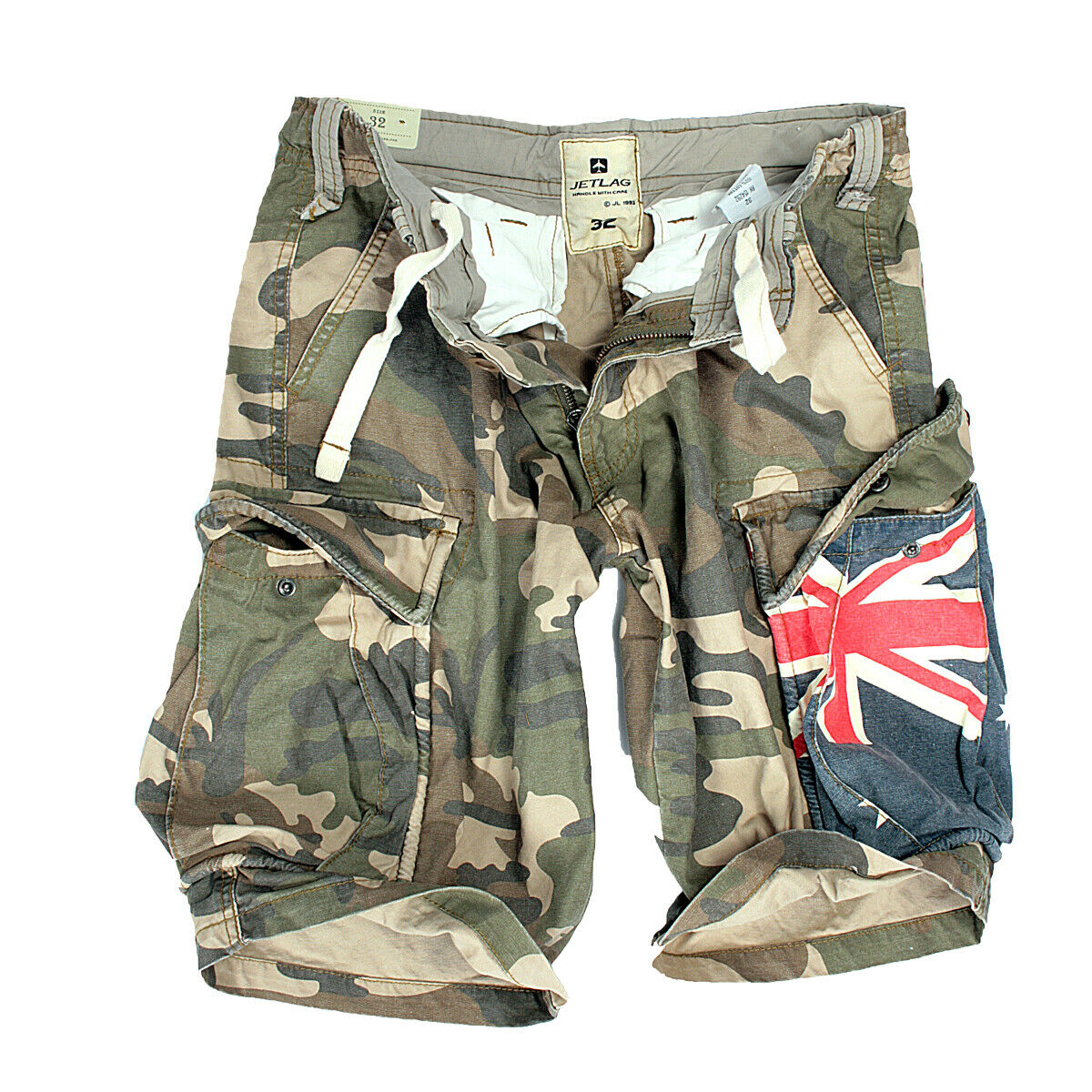 a03821e6ae Jet Lag Men's Cargo Bermuda Shorts Short Trousers Army Camouflage USA  Australia 31 Army-usa for sale online | eBay