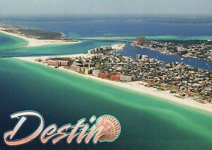 Image Is Loading Aerial View Of Destin Florida Fl Tourism Gulf